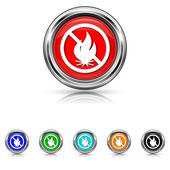 Fire forbidden icon - six colours set — Stock vektor