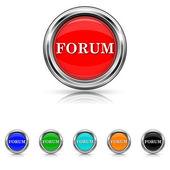 Forum icon - six colours set — Stock vektor
