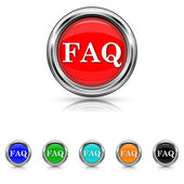 FAQ icon - six colours set — Stock Vector