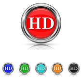 HD icon - six colours set — Stock vektor