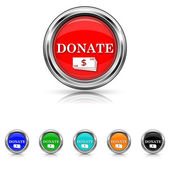 Donate icon - six colours set — Stock Vector