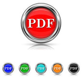 PDF icon - six colours set — Stock vektor