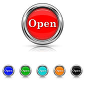 Open icon - six colours set — Wektor stockowy