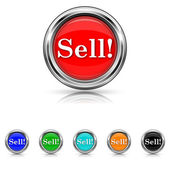 Sell icon - six colours set — Stock Vector