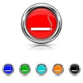 Cigarette icon - six colours set — Stock Vector