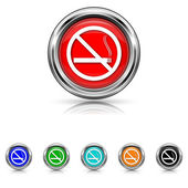 No smoking icon - six colours set — Stock Vector