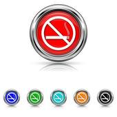 No smoking icon - six colours set — Stock vektor