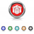 Wektor stockowy : Gift icon - six colours set