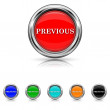 Previous icon - six colours set — Vector de stock #40765391