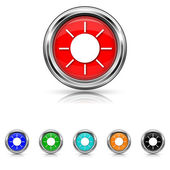 Sun icon - six colours set — Wektor stockowy