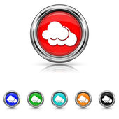 Clouds icon - six colours set — Stock Vector