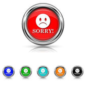 Sorry icon - six colours set — Stock Vector
