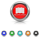 Translation book icon - six colours set — Stock Vector