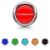 Confidential icon - six colours set — Stock Vector