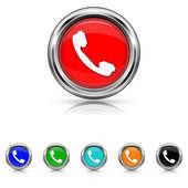 Phone icon - six colours set — Wektor stockowy