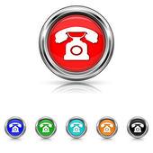 Phone icon - six colours set — Stock Vector