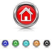 Home icon - six colours set — Stock vektor
