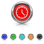 Clock icon - six colours set — Stock Vector