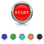 Start icon - six colours set — Stock Vector