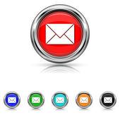 E-mail icon - six colours set — Stock Vector
