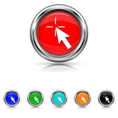 Click here icon - six colours set — Stock vektor