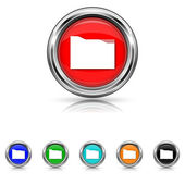 Folder icon - six colours set — Stock vektor