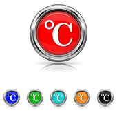 Celsius icon - six colours set — Stock Vector