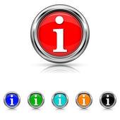 Info icon - six colours set — Stock Vector