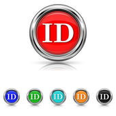 ID icon - six colours set — Stock Vector