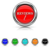 Reviews icon - six colours set — Stock Vector