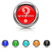 Ask questions icon - six colours set — Stock Vector