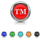 Trade mark icon - six colours set — Stock Vector