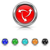 Symbol - sechs-farben-satz ändern — Stockvektor