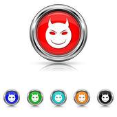 Evil icon - six colours set — Stock Vector