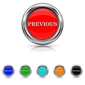 Previous icon - six colours set — Vettoriale Stock