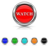 Regarder l'icône - ensemble de six couleurs — Vecteur