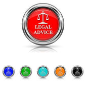 Legal advice icon - six colours set — Stock Vector