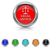 Ícone assessoria jurídica - conjunto de seis cores — Vetor de Stock