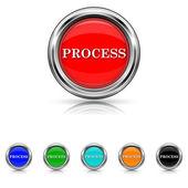 Processen ikonuppsättning - sex färger — Stockvektor