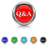 Q&A icon - six colours set — Stock Vector