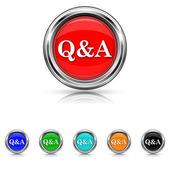 Q&A icon - six colours set — Stock vektor