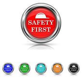 Safety first icon - six colours set — Stockvektor