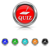 Quiz icon - six colours set — Stock vektor