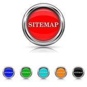 Sitemap icon - six colours set — Stock Vector