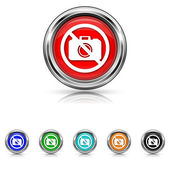 Forbidden camera icon - six colours set — Stock vektor