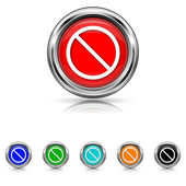 Forbidden icon - six colours set — Stock Vector