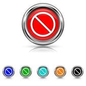 Forbidden icon - six colours set — Stock Vector
