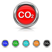 CO2 icon - six colours set — Stock Vector