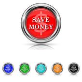 Save money icon - six colours set — Stock Vector