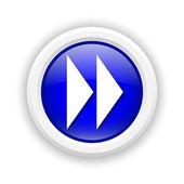 Hızlı ileri işareti simgesi — Stok fotoğraf